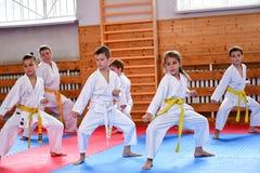Karate κατάρτιση στοκ φωτογραφίες