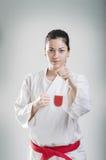 Karate κορίτσι Στοκ εικόνα με δικαίωμα ελεύθερης χρήσης