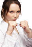 karate κοριτσιών Στοκ φωτογραφία με δικαίωμα ελεύθερης χρήσης