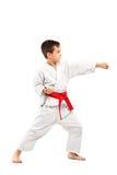 karate παιδιών πλήρης τοποθέτησ&et Στοκ Φωτογραφία