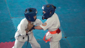 Karate παιδιών ανταγωνισμός απόθεμα βίντεο