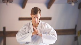Karate χέρια Πέρα από τη γυμναστική πολεμικών τεχνών απόθεμα βίντεο