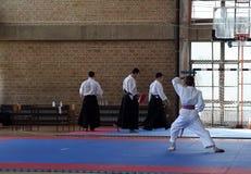 Karate. BELGRADE - APRIL 1: A 17th Karate Washido tournament April 1, 2012 in Belgrade, Serbia Stock Photography