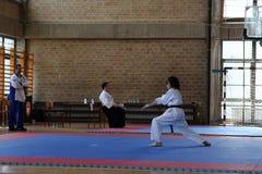 Karate. BELGRADE - APRIL 1: A 17th Karate Washido tournament April 1, 2012 in Belgrade, Serbia Royalty Free Stock Images