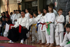 Karate. BELGRADE - APRIL 1: A 17th Karate Washido tournament April 1, 2012 in Belgrade, Serbia Royalty Free Stock Photo