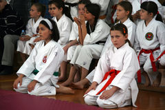Karate. BELGRADE - APRIL 1: A 17th Karate Washido tournament April 1, 2012 in Belgrade, Serbia Stock Photo