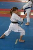 Karate. BELGRADE - APRIL 1: A 17th Karate Washido tournament April 1, 2012 in Belgrade, Serbia Royalty Free Stock Photos