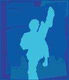 karate 3 poserar stock illustrationer