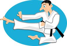 karate stock illustrationer