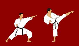 Karate. Abstract vector illustration of karate demonstration Royalty Free Stock Image
