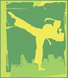 karate 5 poserar stock illustrationer