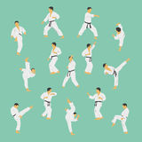 karate stock illustratie