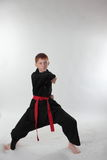 Karate in the attack Stock Image