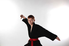 Karate in the attack Royalty Free Stock Images