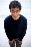 karate azjatykci śmieszny mężczyzna Obrazy Royalty Free