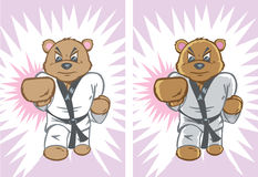 Karate Bear Royalty Free Stock Photos