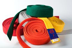 Karate Belts Stock Photo