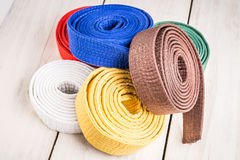 Karate belts Royalty Free Stock Images