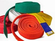 Karate belts pile Royalty Free Stock Image