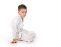 Karate boy Royalty Free Stock Images