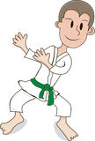 Karate boy Stock Images