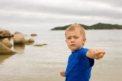 Karate boy Royalty Free Stock Photos