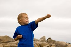 Karate boy Royalty Free Stock Photo