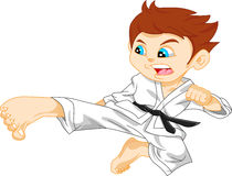 Karate boy Royalty Free Stock Image
