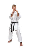Karate boy in kimono Stock Photo