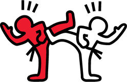 Karate cartoon Royalty Free Stock Image