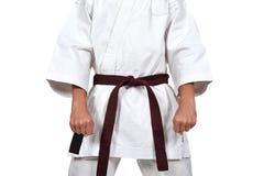 Karate chłopiec w kimonie Fotografia Stock