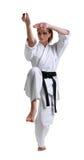Karate. Chica joven en un kimono Fotos de archivo libres de regalías