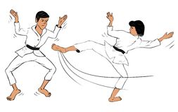 Karate Couple Royalty Free Stock Photography