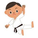 Karate, dżudo, kopnięcie Obraz Royalty Free
