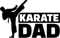Karate dad. Vector sports icon Stock Photography