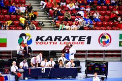 Karate 1 - de Jeugdliga Sofia 2018, 25-27 Mei royalty-vrije stock afbeeldingen