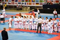 Karate 1 - de Jeugdliga Sofia 2018, 25-27 Mei stock foto