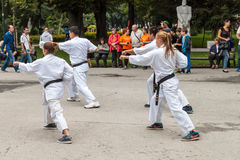Karate de Shotokan Imagenes de archivo