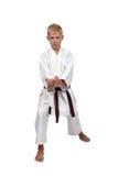 Karate del entrenamiento del muchacho Foto de archivo libre de regalías