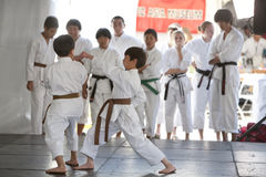Karate Demonstration Royalty Free Stock Images