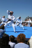 Karate demonstration Royalty Free Stock Photography