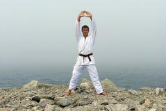 karate denni brzeg pociągi Obrazy Royalty Free