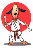 Karate Dog Stock Photography