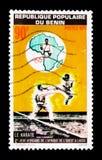 Karate, 2dos juegos de Africa Occidental, serie de Lagos, Nigeria, circa 1977 Fotos de archivo libres de regalías