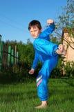 karate dzieciak Zdjęcia Stock