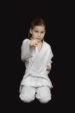 Karate dziewczyna Fotografia Stock