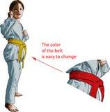 Karate dziewczyna Fotografia Royalty Free