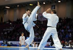 Karate European Championship Stock Photo
