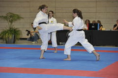 Karate, European Master Cup, Fighting Techniques Royalty Free Stock Images