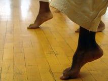 Karate feet. Feet close up Stock Image